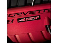 GM 7.0L Engine Decals in Red and Black Satin with 427 Logo - 19154724