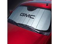 GMC Sierra 2500 HD Front Sunshade Package in Silver with Black GMC Logo - 23447619