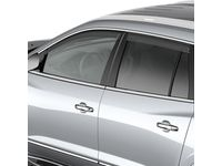 Buick Enclave Front and Rear Tape-On Side Door Window Weather Deflector Set in Smoke Black - 19158426