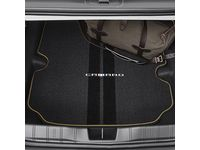 Chevrolet Camaro Cargo Area Carpeted Mat in Black with Kalahari Stitching and Camaro Script for Coupe Models - 23507996