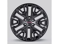 GM 22x9-Inch Aluminum Wheel in Low Gloss Black with Select Machine Face - 84040799