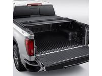 GMC Sierra 1500 Short Box Soft Tri-Fold Folding Tonneau Cover with GMC Logo - 84060331