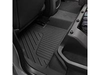 Chevrolet Colorado Extended Cab Second-Row Interlocking Premium All-Weather Floor Liner in Jet Black - 23381382