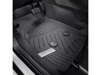 Chevrolet Colorado First-Row Premium All-Weather Floor Liners in Jet Black with Chrome Bowtie Logo - 84370633