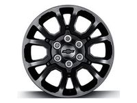 GM 18x8.5-Inch Aluminum Wheel in Low Gloss Black - 23386631