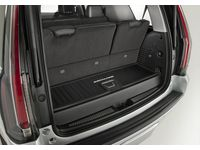 GM 22823334 Premium All-Weather Cargo Area Mat in Jet Black with Escalade Script - 1