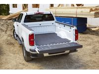 Chevrolet Colorado Bed Mat in Black with Bowtie Logo for Long Bed Models - 22909435