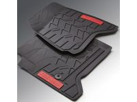 GMC Sierra 3500 HD First-Row Premium All-Weather Mats in Jet Black with All-Terrain Script - 23453023