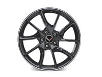 GM 19x10-Inch Aluminum 5-Split-Spoke Front Wheel in Black with Machined Groove - 23251387