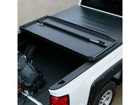 Chevrolet Silverado 3500 Long Box Hard Tri-Fold Tonneau Cover with Bowtie Logo - 84023759