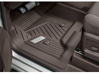 GMC Sierra 2500 HD First-Row Premium All-Weather Floor Liners in Cocoa with GMC Logo (for Models with Center Console) - 84185475