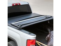 GMC Sierra 1500 Standard Box Soft Tri-Fold Tonneau Cover with GMC Logo - 84023769