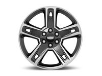 GM 22x9-Inch Aluminum 5-Split-Spoke Wheel in Ultra Bright Machined with Gloss Black - 19301160