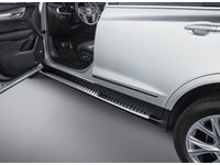 Cadillac Molded Assist Steps in Black with Bright Step Pad - 84184301