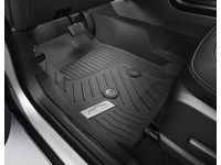 Chevrolet Colorado First-Row Premium All-Weather Floor Liners in Jet Black with Chrome Bowtie Logo - 84708367