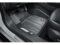 Chevrolet Malibu First-Row Premium All-Weather Floor Liners in Jet Black with Chevrolet Script - 84284421