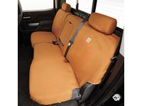 Chevrolet Silverado 3500 HD Carhartt Crew Cab Rear Split-Folding Bench Seat Cover Package in Brown (with Armrest) - 84277443