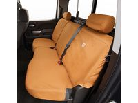 Chevrolet Silverado 3500 HD Carhartt Crew Cab Rear Split-Folding Bench without Cup Holder Seat Cover Package in Brown - 84416768