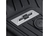 Chevrolet Colorado Floor Liner Badge Kit with Black and Chrome Heritage Bowtie Logo - 84167130