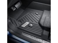 GMC Sierra 2500 HD Regular Cab First-Row Premium All-Weather Floor Liners in Jet Black with GMC Logo (for Models with Center Console and Manual 4WD Floor Shifter) - 84185445