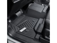 GMC Sierra 2500 HD First-Row Interlocking Premium All-Weather Floor Liner in Jet Black with Chrome GMC Logo (for Models without Center Console) - 84357872