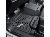 GMC Sierra 2500 HD Regular Cab First-Row Interlocking Premium All-Weather Floor Liner in Jet Black with GMC Logo (for Models without Center Console or Manual 4WD Shifter) - 84357856