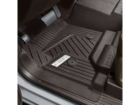 GMC Sierra 2500 HD First-Row Interlocking Premium All-Weather Floor Liner in Cocoa with Chrome GMC Logo (for Models without Center Console) - 84357873