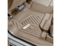 GMC Sierra 2500 HD First-Row Interlocking Premium All-Weather Floor Liner in Dune with Chrome GMC Logo (for Models without Center Console) - 84357874