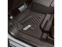 GMC Sierra 2500 HD Regular Cab First-Row Interlocking Premium All-Weather Floor Liner in Cocoa with GMC Logo (for Models without Center Console or Manual 4WD Shifter) - 84357857