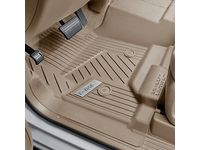 GMC Sierra 2500 HD First-Row Interlocking Premium All-Weather Floor Liner in Dune with GMC Logo (for Models without Center Console) - 84357866