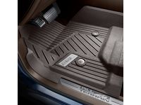 GMC Sierra 2500 HD Regular Cab First-Row Premium All-Weather Floor Liners in Cocoa with GMC Logo (for Models with Center Console and Manual 4WD Floor Shifter) - 84185446
