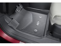 Cadillac XT5 First-and Second-Row Premium All-Weather Floor Liners in Jet Black with Cadillac Logo - 84456544