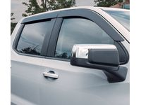 GMC Sierra 1500 Crew Cab Front and Rear Tape-On Low-Profile Door Window Weather Deflectors in Smoke Black by LUND - 19417400