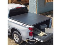 GMC Sierra 1500 Short Bed Soft Roll-Up Tonneau Cover in Black by Advantage - 19416979