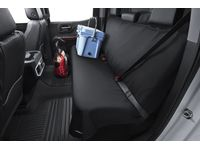 Chevrolet Silverado 3500 HD Rear Bench Seat Cover by Aries™ Manufacturing in Black - 19367173