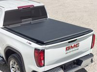 GMC Sierra 1500 Short Bed Soft Roll-Up Tonneau Cover with GMC Logo - 84701057