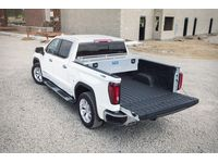 GMC Sierra 3500 HD Cross Bed Secure Lock Crossover Aluminum Tool Box with Twist Handles and Rails in Bright Chrome by UWS - 19370594