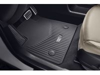 Cadillac XT6 First-and Second-Row Premium All-Weather Floor Mats in Jet Black with Cadillac Logo - 84220178