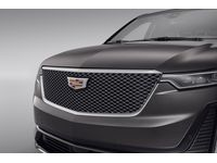 Cadillac XT6 Grille in Painted Silver with Bright Surround and Cadillac Logo - 84711554