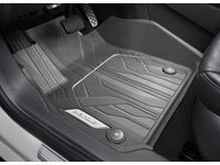 Chevrolet Malibu First-Row Premium All-Weather Floor Liners in Dark Atmosphere with Chevrolet Script - 84284422