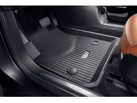 Cadillac XT5 First-and Second-Row Premium All-Weather Floor Liners in Jet Black with Cadillac Logo - 84286844