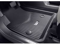 Cadillac XT5 First-and Second-Row Premium All-Weather Floor Liners in Dark Titanium with Cadillac Logo - 84286845