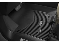 Cadillac Escalade First-Row Premium All-Weather Floor Liners in Jet Black with Cadillac Logo - 84700121