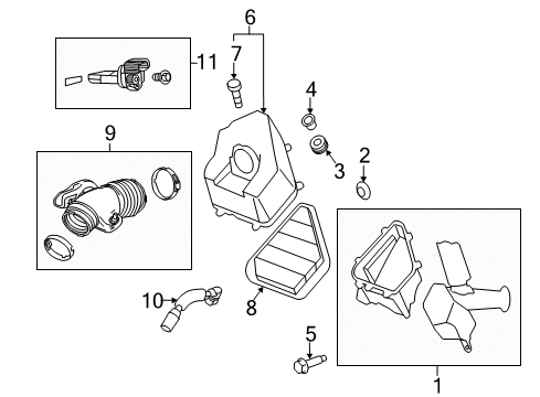 traverse engine diagram 2015 chevrolet traverse air intake parts listing gm parts prime  2015 chevrolet traverse air intake