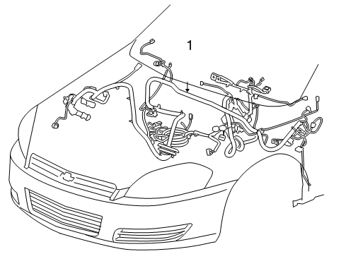 [TVPR_3874]  2014 Chevrolet Impala Limited Wiring Harness Parts Listing | 2006 Impala Engine Diagram |  | GM Parts Prime