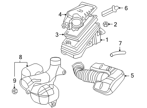 2007 pontiac g6 maf sensor wiring diagram 2007 pontiac g6 air intake parts listing gm parts prime  2007 pontiac g6 air intake parts