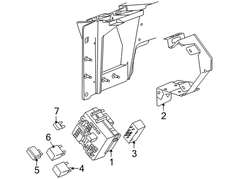 2005 hummer h2 fuse diagram 2005 hummer h2 fuse   relay parts listing gm parts prime  2005 hummer h2 fuse   relay parts
