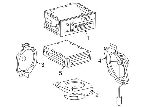 2000 GMC Jimmy SLS 6 Cyl 4.3 L GAS SOUND SYSTEM Parts Listing