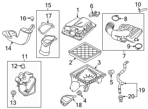 Rear Genuine GM 13337770 Air Cleaner Intake Duct Resonator