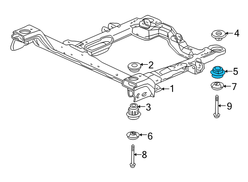 1999 Buick Century Limited 6 Cyl 3.1 L GAS SUSPENSION MOUNTING